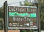 Entering the La Crosse River State Trail