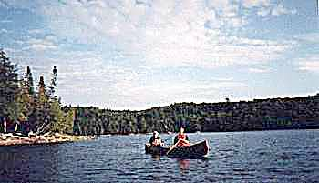 Wayne and Norm Hooper fishing in algonquin provincial park