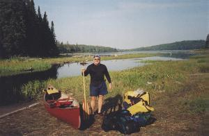 Norm H. at the portage to Little Mink Lake