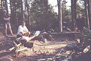Preparing Supper on Waterclear Lake - Algonquin Park
