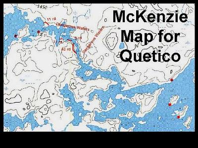 slide 1 if youve traveled in the boundary waters canoe area or in quetico park ontario youre probably familiar with fisher or mckenzie maps they show
